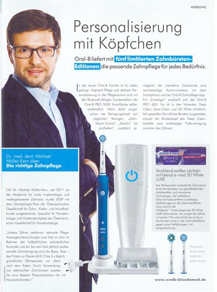 Oral B Werbung mit Dr. Michael Müller